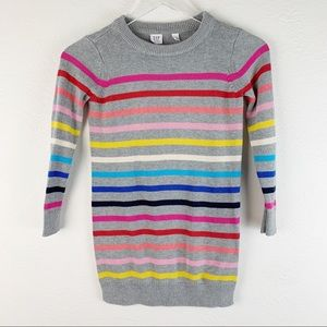 Gap Kids Crazy Stripe Rainbow L/S Bright Dress S
